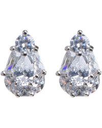 CZ by Kenneth Jay Lane | Multi Shape Cz Pear Stud Earrings | Lyst