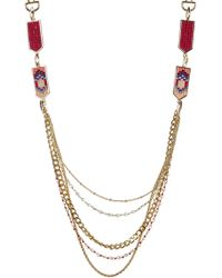 Rebecca Minkoff - Catalina Seedbead Layered Necklace - Lyst
