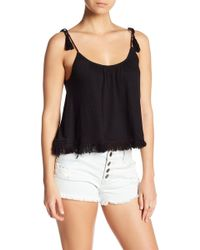Billabong - Step Up Tie Shoulder Fringe Hem Tank - Lyst