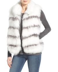 Tasha Tarno - Knit Genuine Frost Fox Fur Vest - Lyst