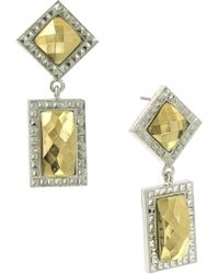 1928 - Geometric Stone Drop Earrings - Lyst