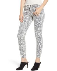 Current/Elliott - The Stiletto Ankle Skinny Jeans (warped Species) - Lyst