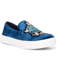 Dirty Laundry - Foxglove Velvet Embroidered Slip-on Sneaker - Lyst