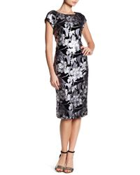 Eci - Foil Printed Velvet Dress - Lyst