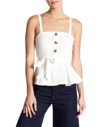 Jealous Tomato - Button Front Belted Tank Top - Lyst