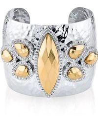 1928 - Two-tone Wide Cuff Bracelet - Lyst
