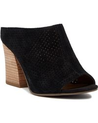 Franco Sarto - Flora Perforated Suede Mule - Lyst