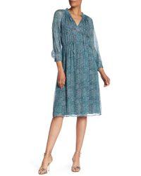 Rebecca Taylor - Minnie Floral Chiffon Silk Blend Dress - Lyst