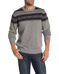 Weatherproof - Fairisle Jacquard Yoke Sweater - Lyst