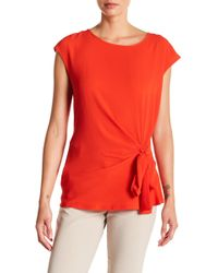 Vince Camuto - Mixed Media Tie Tee - Lyst