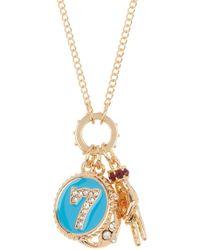 Steve Madden - Dangle Disc & Seashell Charm Pendant Necklace - Lyst