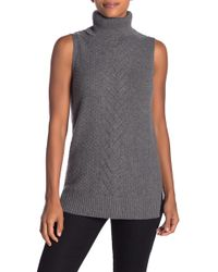Sofia Cashmere - Cashmere Cable Knit Sleeveless Sweater - Lyst