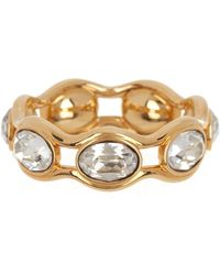 Swarovski - Gold-plated Crystal Fragment Ring - Size 6 - Lyst