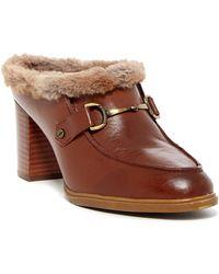 Aerosoles   Center City Faux Fur Lined Loafer Mule   Lyst