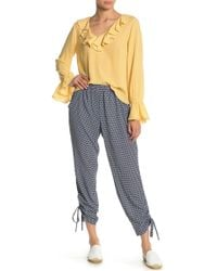 Cece by Cynthia Steffe - Garden Geo Ruched Ankle Pants - Lyst