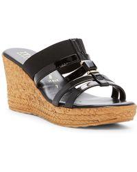 Italian Shoemakers | Embellished Wedge Sandal | Lyst