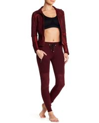 Electric Yoga - Faux Suede Quilted Fleece Jogger - Lyst