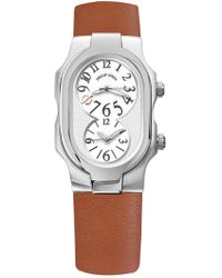 Philip Stein - Women's Signature Dual Time Zone Watch, 42mm - Lyst