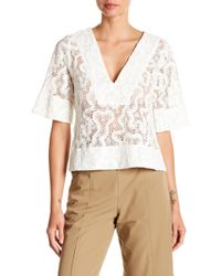 A.L.C. - Virginia V-neck Top - Lyst