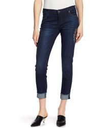 Kut From The Kloth - Amy Embroidered Skinny Jeans - Lyst