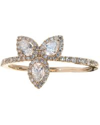 Meira T - 14k Rose Gold White Topaz Ring - Lyst