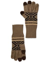 Pendleton - Jacquard Knit Texting Gloves - Lyst