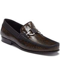 Donald J Pliner - Dacio Snake Embossed Leather Bit Moc Loafer - Lyst