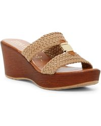 Italian Shoemakers | Braided Wood Platform Wedge Sandal | Lyst