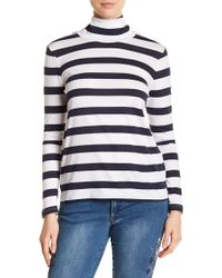 Philosophy Apparel - Turtleneck Striped Sweater - Lyst