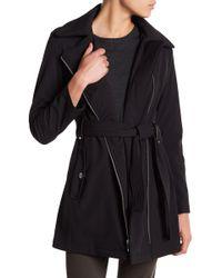 Via Spiga - Asymmetrical Front Zip Hooded Raincoat (petite) - Lyst