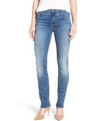 Jen7 - Stretch Slim Straight Leg Jeans (riche Touch Rinsed Night) - Lyst