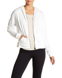 Betsey Johnson - Front Zip Hooded Jacket - Lyst
