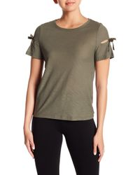 Cece by Cynthia Steffe - Bow Sleeve Knit Top - Lyst