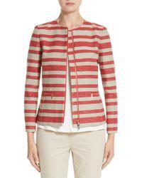 Lafayette 148 New York - Kerrington Stripe Jacket - Lyst