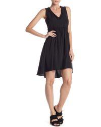 Dex - V-neck Dress With Ruffles - Lyst