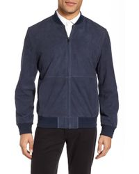 Calibrate - Suede Bomber Jacket - Lyst