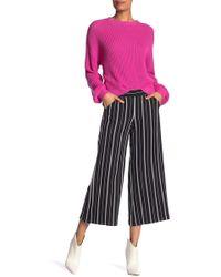 Max Studio - Striped Wide Leg Crop Pants - Lyst