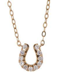 Nadri - 18k Gold Plated Cz Horseshoe Pendant Necklace - Lyst
