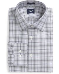 John W. Nordstrom - (r) Trim Fit Plaid Dress Shirt - Lyst