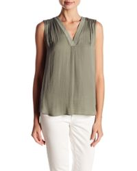 Vince Camuto - Rumpled Satin Blouse - Lyst
