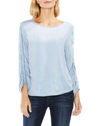 Two By Vince Camuto - Ruched Sleeve Pastel Fade Top - Lyst