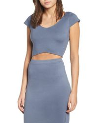 Leith - Curved Hem Crop Top - Lyst