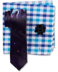 Original Penguin - Spaceman Print Tie, Check Pocket Square, & Dot Lapel Pin Box Set - Lyst