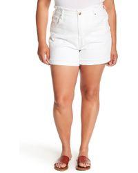 Seven7 - High Rise Single Cuff Shorts (plus Size) - Lyst