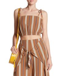Dress Forum - Striped Crop Top - Lyst