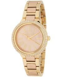 MICHAEL Michael Kors - Taryn Crystal Bracelet Watch, 33mm - Lyst