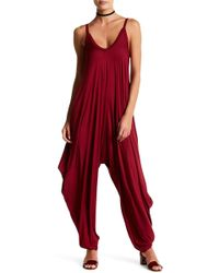 Oober Swank - Sleeveless Drop Crotch Jumpsuit - Lyst