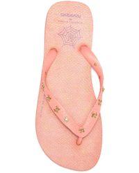 253ec623eae1 Lyst - Havaianas Charlotte Olympia Kitty Slim Strap Sandal in Black