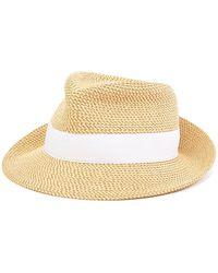 Lyst - Eric Javits Yasha Wide Brim Water Repellent Hat in Natural 0b15a4ed500c