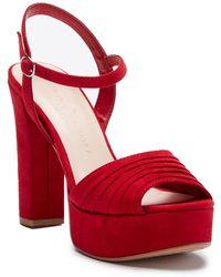 Chinese Laundry - Allie Pleated Platform Sandal - Lyst